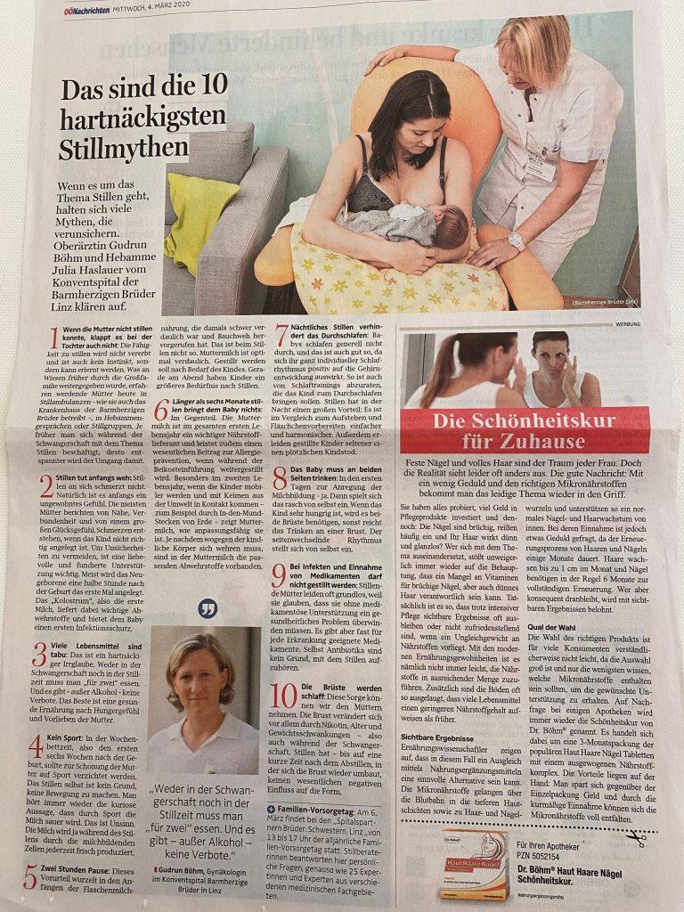 Dr. Gudrun Böhm im Interview über Stillmythen